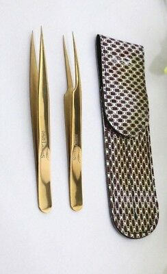 NewYorkLashes Straigh Pro straight Gold Tweezers for eyelash extensions