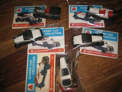 5 Vtg Citgo Classic Car Collection Model Kits Gas Station Advertising Premium