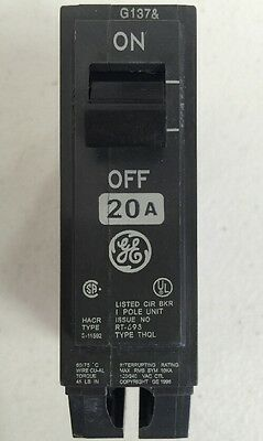 General Electric/GE THQL1120 Plug-In Circuit Breaker 20 Amp 120/240 Vac 1 Pole