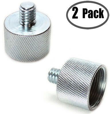 """Mic Music Stand 5/8"""" Female to 1/4"""" Male Thread Screw Adapter Reducer Bushing"""