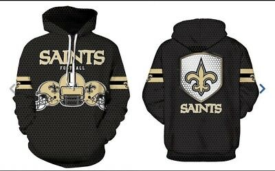online store 904ad 22866 NEW ORLEANS SAINTS Hoodie Medium-XXL 2XL Unisex Men Women Football  Sweatshirt NO