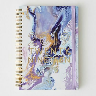 NEW A5 Spiral 2019 Diary - Purple Swirl