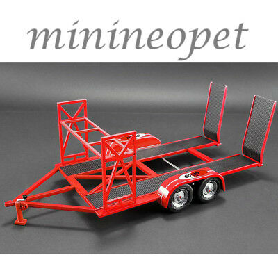 GMP 18907 SO CAL SPEED SHOP TANDEM CAR TRAILER with TIRE RACK FOR 1/18 MODEL CAR