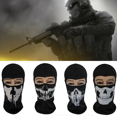 1x Ghost Balaclava Motorcycle Cycling Game Airsoft Full Face Mask