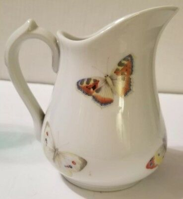 RARE Antique/Vtg Butterfly Pitcher  Bernardaud B&Co Limoges French
