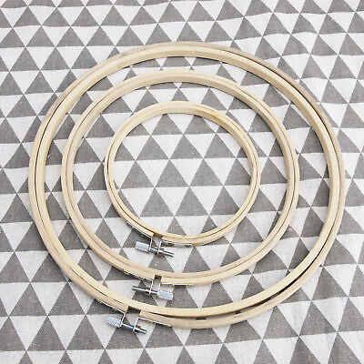 Wooden Cross Stitch Machine Embroidery Hoop Ring Bamboo Sewing 12-25cm 5''8''10'