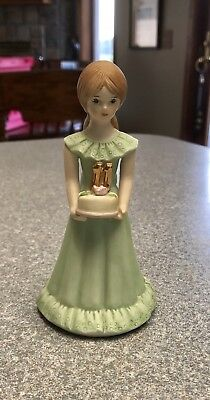 Vintage 1982 Enesco 11th Yr. Growing Up Birthday Girl Figure