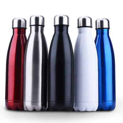 1*350/500/1000ml 2 Wall Vacuum Cup Insulated Stainless Steel Water Bottle TRAVEL