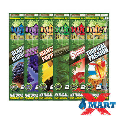 Juicy Jay Variety Pack 6 pouches (12 wraps total) Herbal Organic Wraps Combo