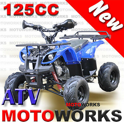 MOTOWORKS 125CC Farm ATV QUAD Bike Dirt Gokart 4 Wheeler Buggy Blue