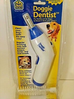 Doggie Dentist The Toothbrush for DogsBattery Powered 42030 Pet Zone by Doggie