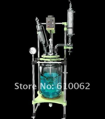 100L Explosion Proof Motor Jacketed Chemical Reactor, double-neck Glass Reaction