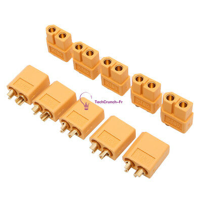 2/5/10Pairs NEW XT60 Male&Female Bullet Connectors Plugs for RC Lipo Battery