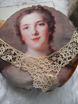 Rare Antique  Lace Collar Original Cloth Tag on Paper J.H. Bluth Dresden Berlin