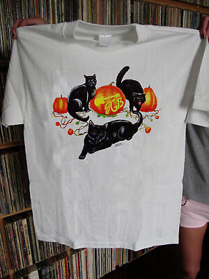 Grateful Dead T Shirt Jerry Garcia Band Halloween 1993 Pumpkin Cats REPRINT