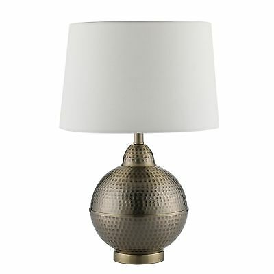 CO-Z Hammered Pot Table Lamps, Large Modern  Contemporary White Shade with