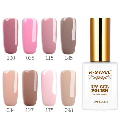 2018 Hot RS Nail Gel Polish UV LED Varnish Soak Off Pink Nude Colour New Store
