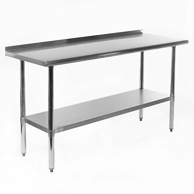 X Stainless Steel NSF Commercial Kitchen Prep Work Table W - Stainless steel work table with backsplash