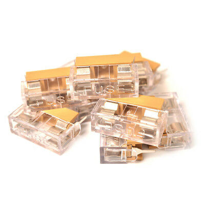 10pcs Soldering Panel PCB Fuse Holder Case with PE Bag Cover 5x20mm A0120