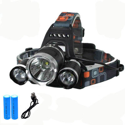 12000LM Lumens 3x XML T6 LED Rechargeable Head Torch Headlamp Ultra Bright Light