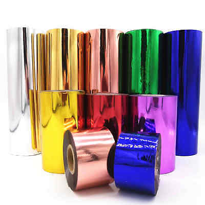 50PCS Metallic Hot Foil Heat Sublimation Hot stamping Decal Card Crafts Roll