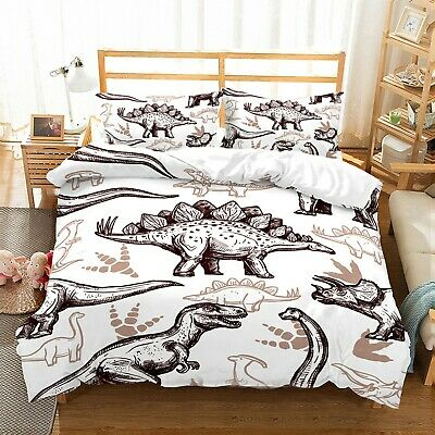 Dinosaur Duvet Doona Quilt Cover Set Kids Boys Bedding Set Single Double Size