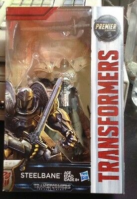 NEW! Hasbro Transformers: The Last Knight Premier Edition MV5 Deluxe Steelbane