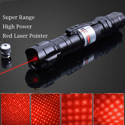 10Miles 650nm Red Laser Pointer Lazer Pen Visible Beam Light 18650 Battery Hot