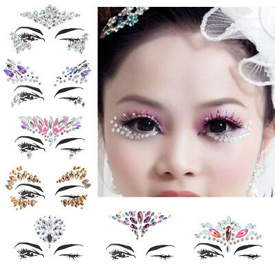 Crystal Face Jewelry Body Glitter Stickers Tattoo Eyes Festival Party Decor CRIT