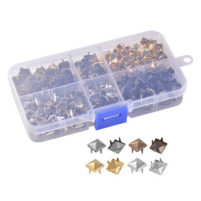 8mm Metal Spike Square Studs Decorative Rivet For Leather Punk Bag Clothes CR054