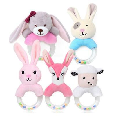 Baby Rattle Play Toys Newborn Infant Kids Toys Grip Plush Soft Toys Shaking Bell