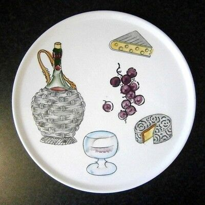 Vintage Japanese China Hand Painted Cheese & Wine Platter 26Cm Wide