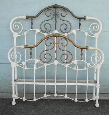 BRASS and IRON antique BED  5' + Tall  FULL SIZE possibly QUEEN can be DELIVERED