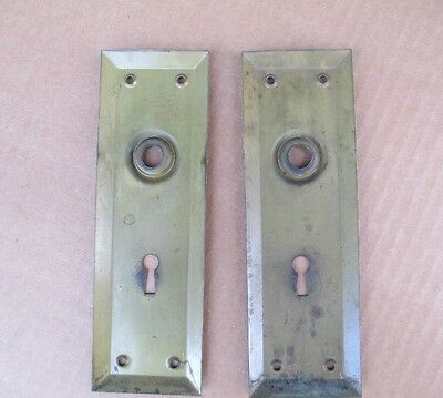 Antique back door METAL plates / skeleton key - Selling  plates only