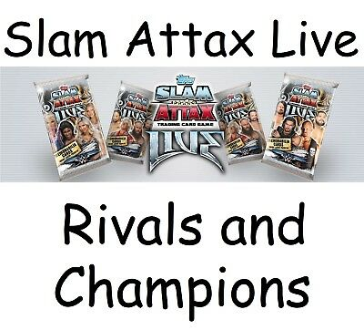 Slam Attax Live RESTOCKED Champions & Rivals cards, Pick which Champion or Rival