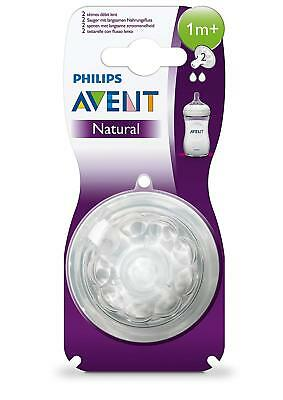 2 Philips Advent Natural Newborn Flow Teats 0m+ - NEW & SEALED 0m+