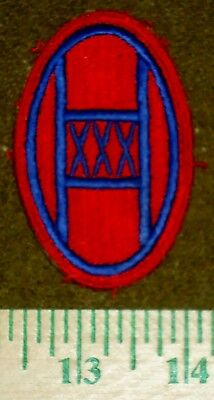 US Army WWII Era Shoulder Patch, 30th Infantry Division, Red Border Version
