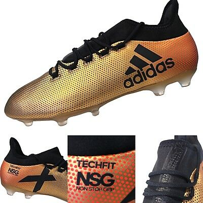 588696a09 Adidas X 17.2 FG Mens Soccer Cleats Metallic Gold/Black Techfit Size 13  (CP9186