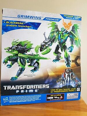 """Transformers Prime -  Grimwing Predacon ( Large 7 """" ) Beast Hunters NEW in Box"""