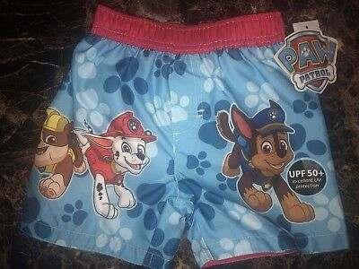 1839533d2d NEW NICKELODEON PAW Patrol Boys Swim Trunks Size 18 Months Nwt 18M ...