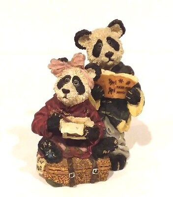 """Boyds Bears Figurine """"HSING & LING LING"""" WONGBRUIN CARRYOUT"""