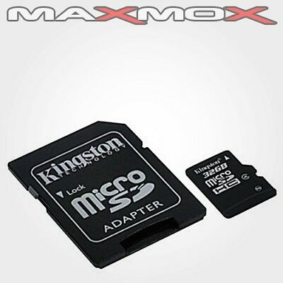 32GB MicroSD Class 10 Kingston Speicher Karte +Adapter max 80MB Handy Foto Video