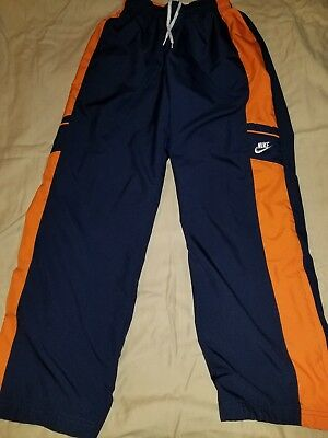 fc120f3becf4 NIKE YOUTH BOYS Windbreaker Pants Size L 14-16 Navy Orange