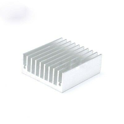 1X 10 Pcs Black Aluminum Cooler Radiator Heat Sink Heatsink 20mm x 20mm x 1J9X3