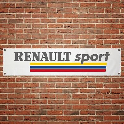 Renault Sport Banner Garage Workshop PVC Sign Trackside Display Clio Cup V2