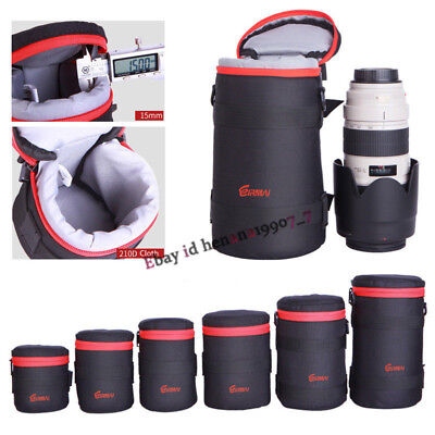 Waterproof Padded DSLR Camera Bag Lens Bag Pouch Case Cover For Canon Sony Nikon