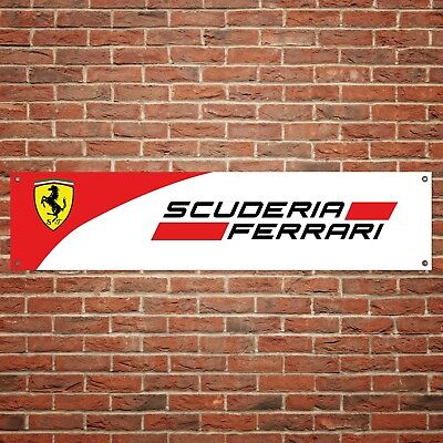 Ferrari Scuderia Banner Garage Workshop PVC Sign Trackside Motorsport Display