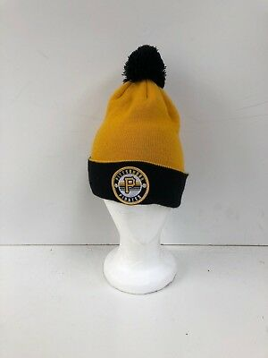 b96ecdd888d Pittsburgh Pirates Adults New Era MLB Club Logo Beanie Hat - OSFA - Yellow  - New