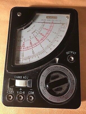 Vintage Midland Model 23-101 Volt Ohm Meter AC DC Multimeter Automobile Tool