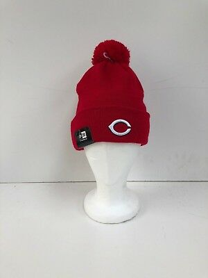 Cincinnati Reds Adults New Era MLB Club Logo Beanie Hat - OSFA - Red - New